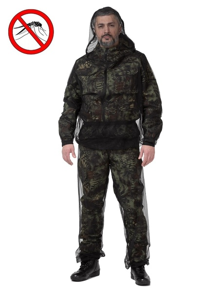 Антимоскитный костюм-сетка KATRAN МОСКИТ (Сетка, черный) фото