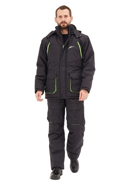Зимний костюм для охоты и рыбалки Берген -40° С (Таслан, Черный) KATRAN полукомбинезон фото