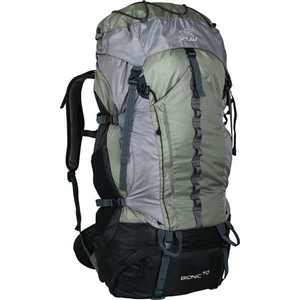 Туристический рюкзак СПЛАВ BIONIC 70 (зеленый/серый) фото